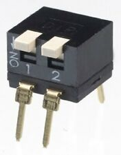 Apem DIP SWITCHES 5Pcs 25mA 2-Way DPST Through Hole, Piano, Raised Actuator