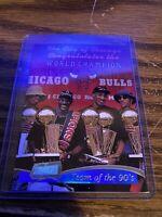 1997-98 Topps Stadium Club Team Of The 90's #5 Chicago Bulls NMMT Michael Jordan