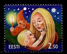 Weihnachten. Mutter und Kind, Weihnachtsmann. 1W. Estland 1996