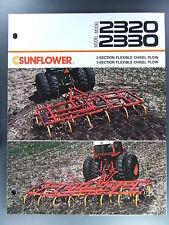 Sunflower Flexible Chisel Plow 2320 2330 Dealers Brochure Tractor Farming