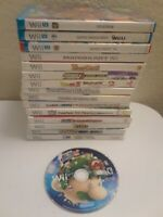 Lot of Wii & Wii u games: Mario Kart, Mario Party 10, Dragonball z, Punchout,