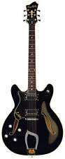 Hagstrom Viking LEFT-HANDED Semi-Hollow Electric Guitar - BLACK GLOSS