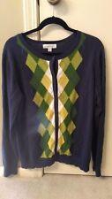 Merona Target -plus size womens 2X--XXL--Navy Argyle Sweater/shirt/top--NEW!
