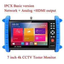 "4K 7"" IPC Tester IP CCTV Camera Tester H.265 IP+Analog+HDMI Output IPC-X ot16"