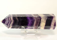 "4.4"" Purple Banded Fluorite Point Colorful Natural Striped Crystal Stick - China"
