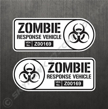 Zombie Response Vehicle Sticker Set Vinyl Decal Walking Dead Car Truck B&W Decal