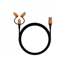 Hahnel 3-in-1 Tough Lightning/Micro USB/USB-C Cable