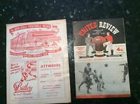 56/57 Man/Manchester United  v Athletic Bilbao EUROPEAN CUP QUARTER FINAL