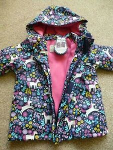 NEW 🦄 JOJO MAMAN BEBE Waterproof Hooded Unicorn COAT 3-4Y BNWT Colour Changing
