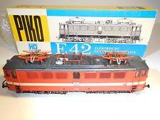 ++ B1241 H0 Piko E-Lok BR 242 091-7 DR mit zwei Motoren - Gealtert Weathering
