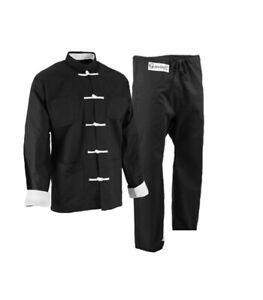 ProForce Gladiator Kung Fu Tai Chi Uniform Wushu Gi w/ White Button