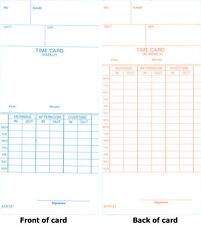 250 ATR121 TIME CARDS FOR ACROPRINT ATR120 & ATR120r TIME CLOCKS (09-9110-000)
