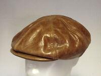 Jill Corbett Leather 8 piece cap brown Handmade in UK to order S/M/L/XL