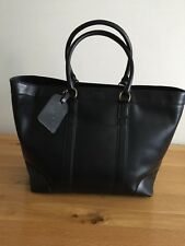 RALPH LAUREN MENS TOTE/WEEKEND BAG BLACK 100% LEATHER NEW WITH TAG RRP £500.00