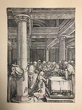 Marcantonio RAIMONDI /1480-1534/ Old Master Engraving After DURER, 1760 printing