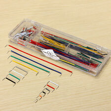 140pcs Solderless Breadboard Jumper Cable Wire Kit U Shape For Arduino Shield US
