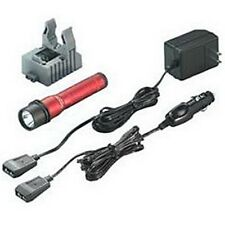 Streamlight Strion LED Rechargeable Flashlight with 120V AC/12V DC Charger, Red