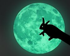 "Extra Large Glow in the Dark Full Moon Kids Fun Wall Decal Sticker 19"" x 19"""