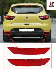 FOR RENAULT CLIO MK4 2012-2016 NEW REAR BUMPER REFLECTOR PAIR SET