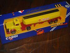 Corgi 1141 Leyland Scammell Shell Petrol Glostersaro Tanker Lorry Truck box 1984