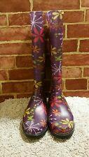 WOMEN'S HEARTLAND FOOTWEAR MADE IN USA ELECTIC FLOWER RAIN BOOTS NEW SZ 9 1534