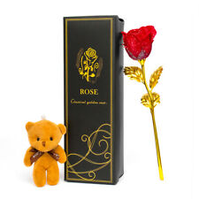 24K Gold Plated Galaxy Rose Valentine's Gift to Girlfriend Wife Love Present UK