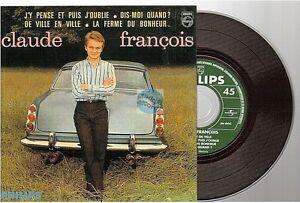 CLAUDE FRANCOIS de ville en ville CD SINGLE EP j'y pense et puis j'oublie