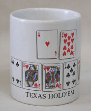 Vintage Coffee Mug Texas Hold 'Em Poker Card Images Wynn Wolfe 2005