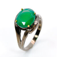 Natural Onyx 925 Sterling Silver Ring Size 8/RS18-0115