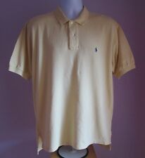 VTG Mens RALPH LAUREN POLO Yellow Collared Polo Short Sleeve Shirt Size L (22)