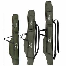 New Portable Folding Bag Fishing Rod Carrier Canvas Pole Tool Storage Case Gear