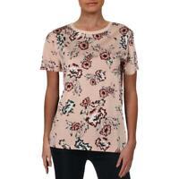 Lauren Ralph Lauren Womens Marrim Floral Print Short Sleeves T-Shirt Sz M $69