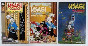Usagi Yojimbo Color Special 1 2 3 Set Stan Sakai Fantagraphics 1989 1991 1992