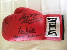 James Buddy McGirt,  Matthew Macklin, Harold Lederman & Lou Dibella Signed Glove