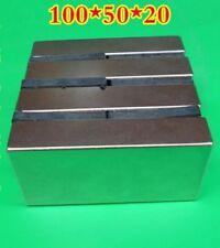Huge Neodymium Block Magnet. Super Strong Rare Earth N52 4 x 2 x 1 Inch !1pcs