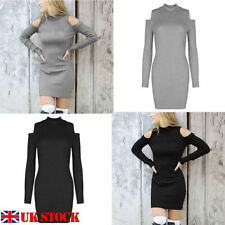 Winter Polyester Stretch Dresses for Women