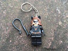 Catwoman Keyring Keychain Minifigure UK SELLER