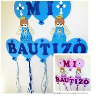 Baptism Favors Banner Boy/Girl Mi BautizoWall Decoration Decoracion Para Bautizo