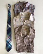 Vintage 70s Lot 3 Shirts + Tie Tissue Thin Hipster Short Slv Medium Bread Levi's