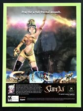 2004 Vintage Print Ad SUDEKI Video Game Release Illustration Art Woman Warrior