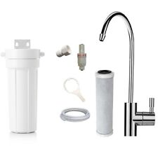 Single Under Sink Water Filter System + Faucet Tap + Carbon Filter + Valve