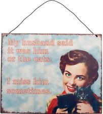 My Husband Sign - Retro Style Enamel Him Large Metal Novelty Vintage Plaque
