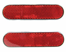 Motorcycle Pair Red Safety Reflectors Stick on Red Reflectors Self Adhesive Bike