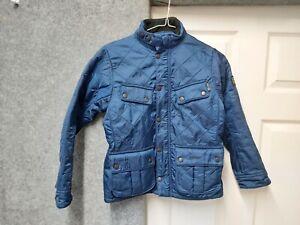 Barbour International Medium Boys Royal Blue Ariel Polarquilt Jacket