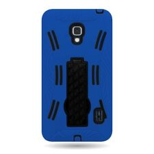 For LG Optimus F6 Blue Black Hybrid Stand Tough Protective Cover Case