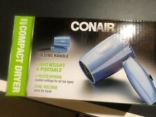 CONAIR Compact Folding Dryer  1600 Watt  2 Settings  Great for Travel! NEW