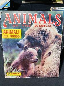 ALBUM FIGURINE  PANINI ANIMALS OF THE WORLD NON COMPLETO,OTTIMO