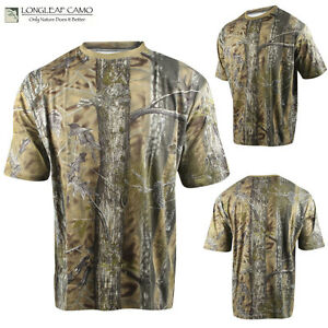 MENS LONGLEAF BROWN CLASSIC SOFTTOUCH SHORT SLEEVE HUNTING CAMO TEE