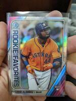 2020 Bowman Chrome Yordan Alvarez Rookie Of the year Favorite Houston Astros RC
