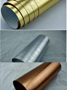 Brushed Chrome Vinyl Wrap (Air/Bubble Free) 6 colours Multi sizes